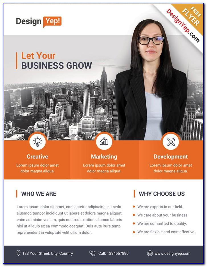 Business Flyer Templates Free Word