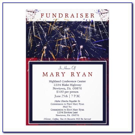 Campaign Fundraiser Invitation Template