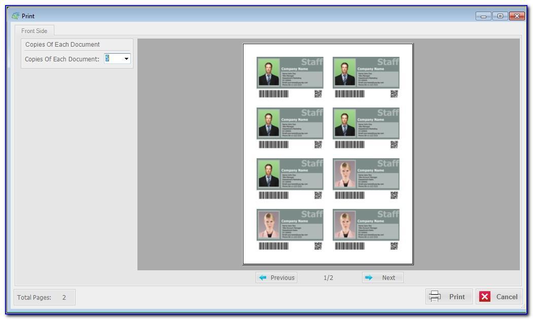 Canon Printer Business Card Templates