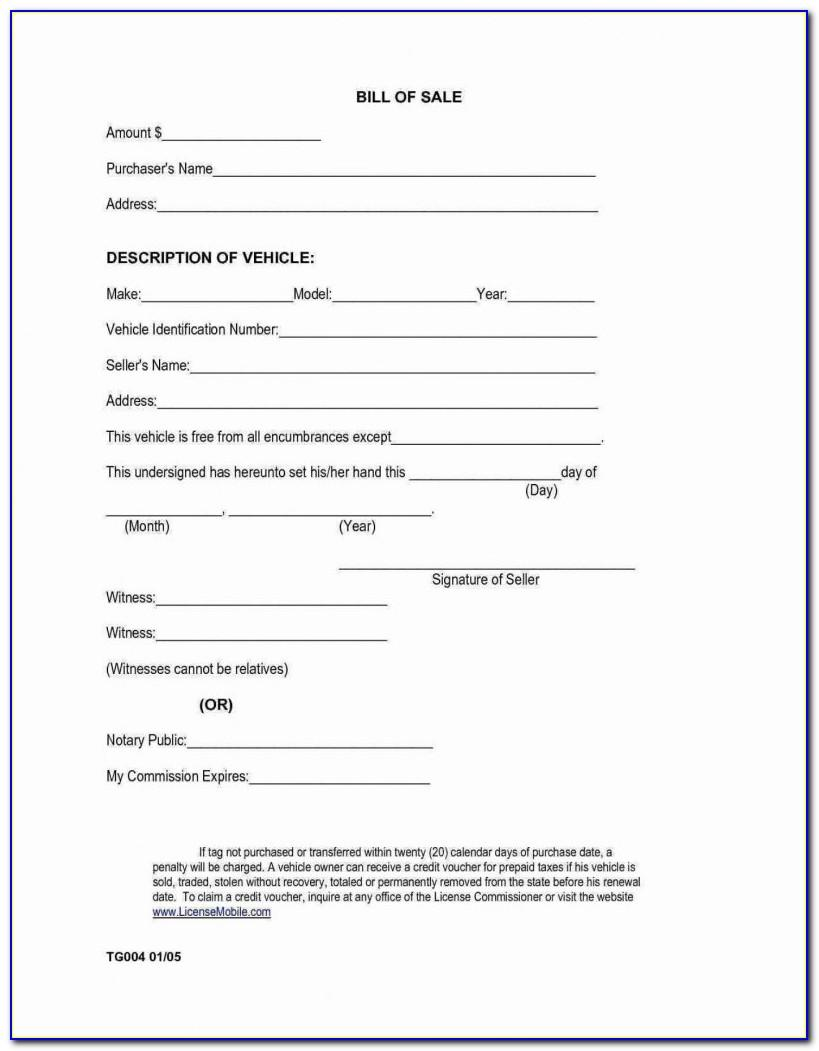 Car Sale Contract Template California