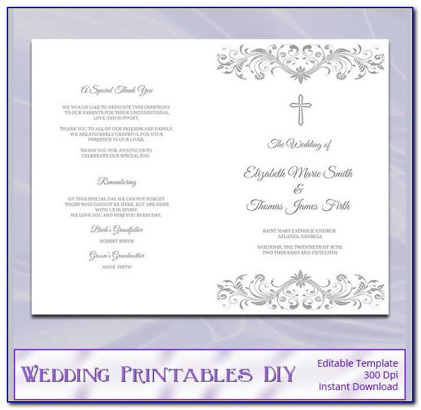 Catholic Church Wedding Program Sample
