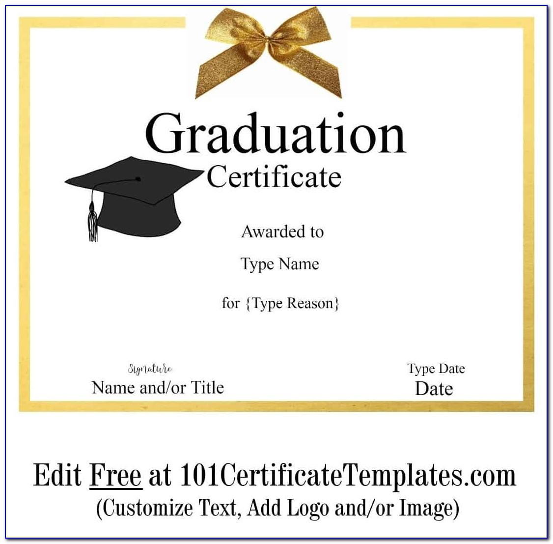 Certificate Of Expected Graduation Template