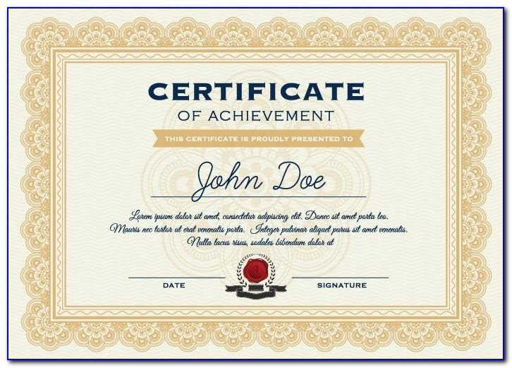 Certificate Seal Template Free