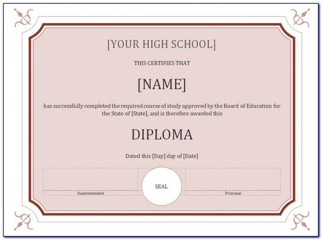 Certificate Seal Template Word