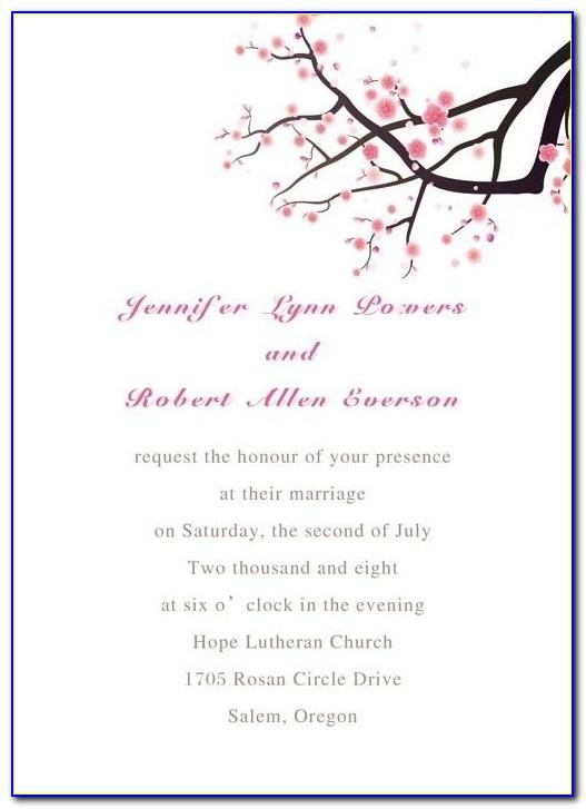 Cherry Blossom Birthday Invitation Template Free
