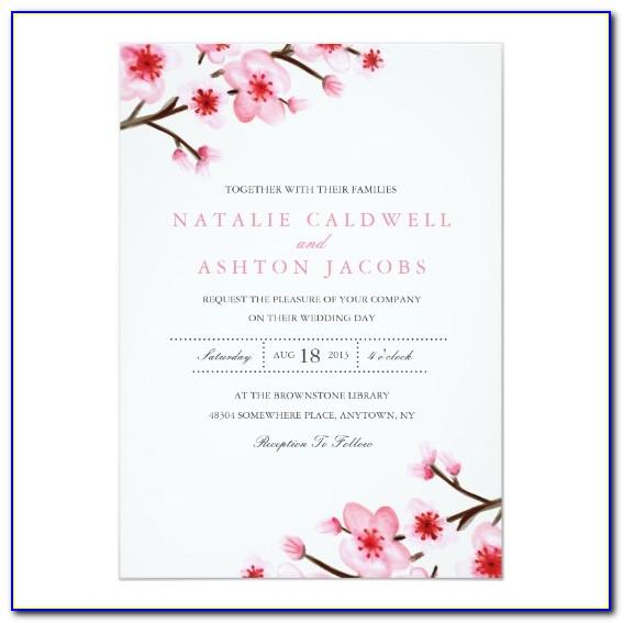 Cherry Blossom Invitation Template Free