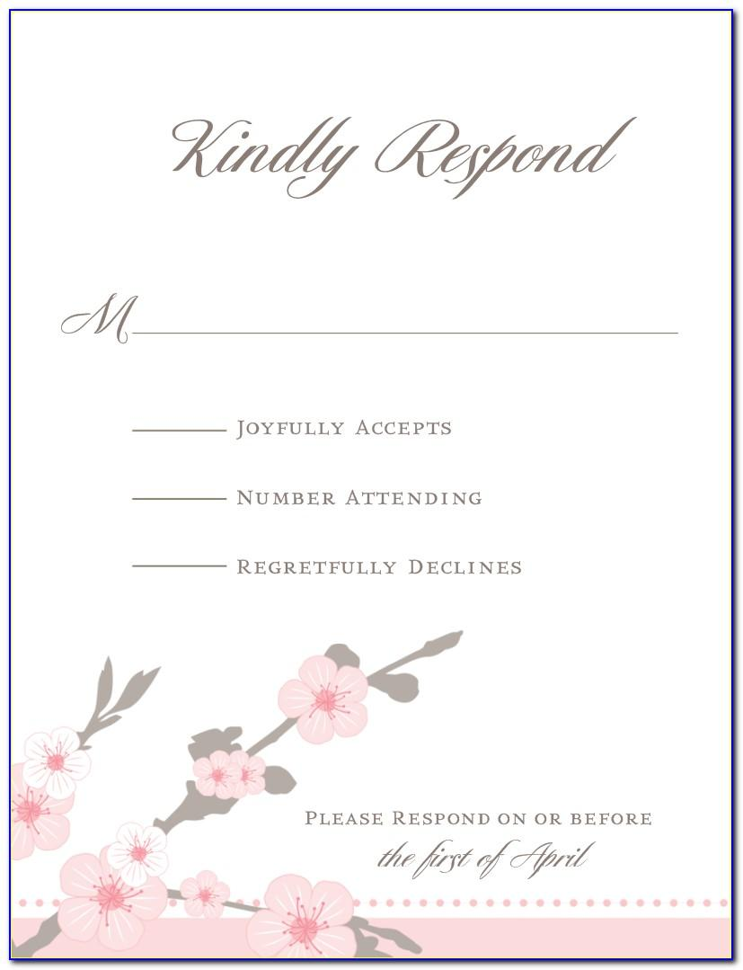 Cherry Blossom Wedding Invitation Templates Free