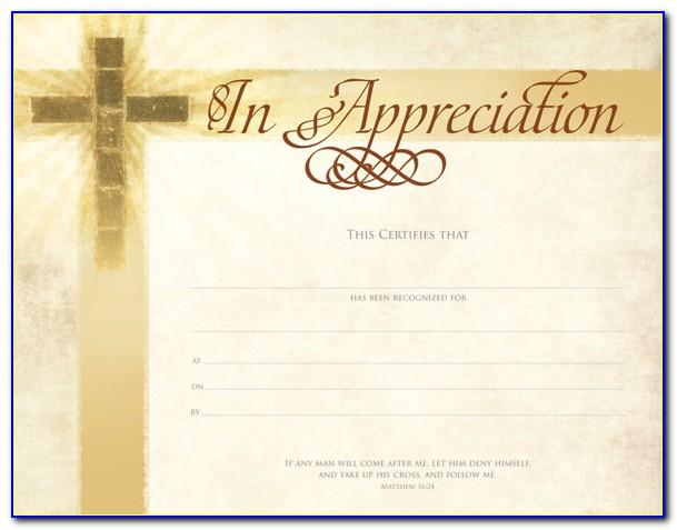 Christian Dedication Certificate Template