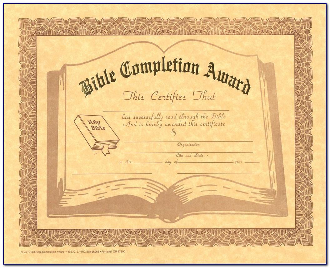 Christian Graduation Certificate Templates