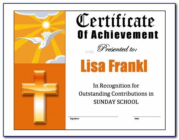 Christian Wedding Certificate Template