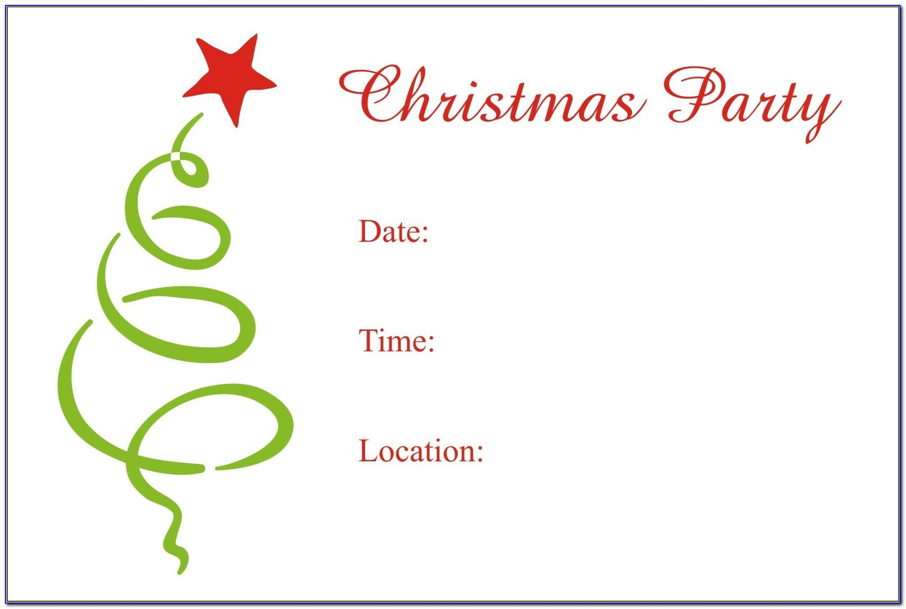 Christmas Invitation Cards Templates Free Download