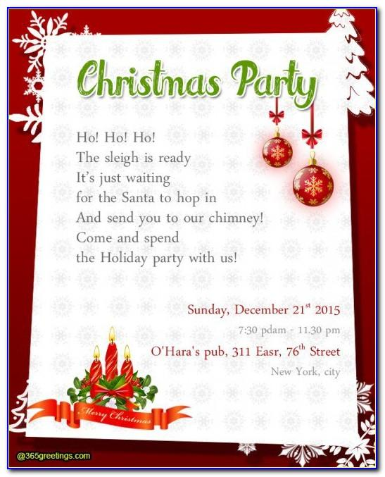 Church Christmas Invitations Templates