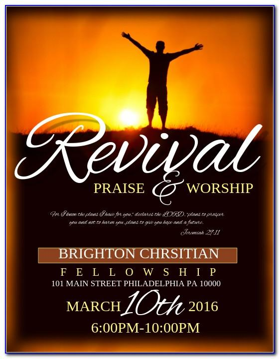 Church Revival Flyer Template Free