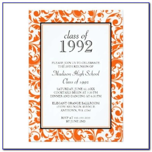 Class Reunion Invitation Templates Free Download