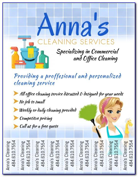 Cleaning Company Flyer Templates Free