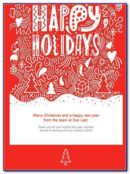 Company Christmas Cards Template