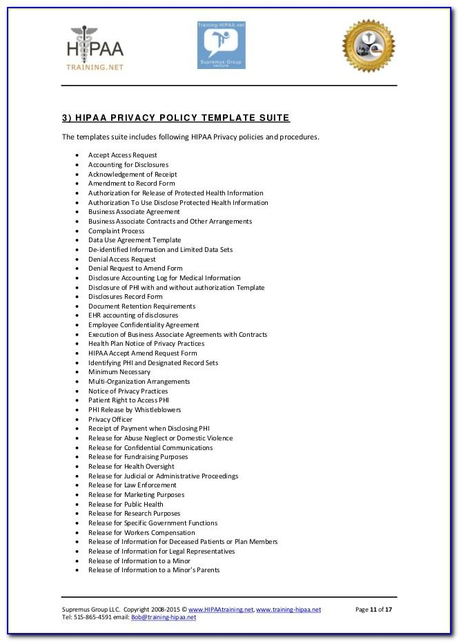 Compliance Policies And Procedures Template