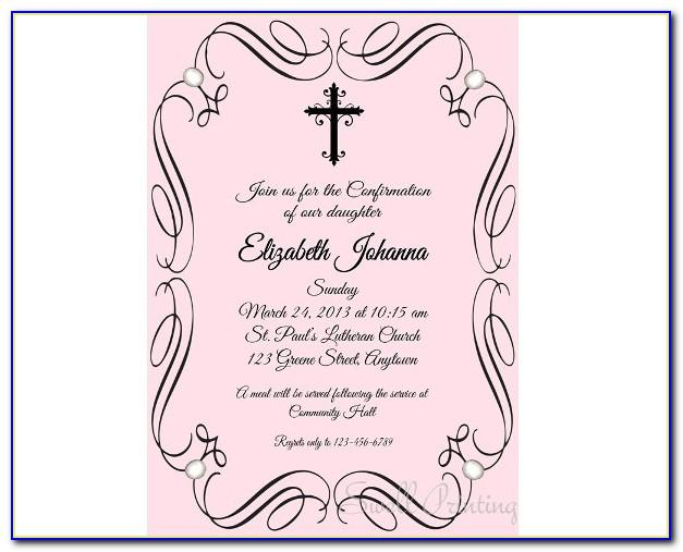 Confirmation Invitations Templates Free