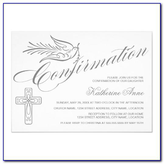 Confirmation Invitations Word Templates Free