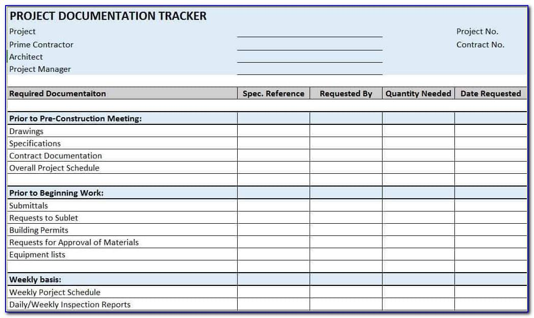 Construction Project Manager Template