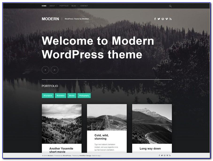 Contemporary Website Templates Wordpress
