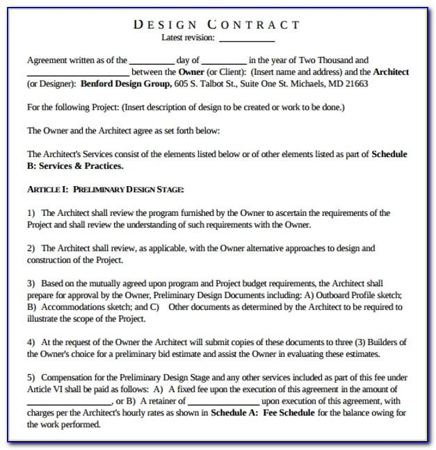 Contracts For Interior Design Services