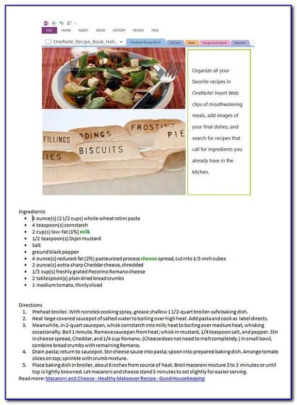 Cookbook Templates
