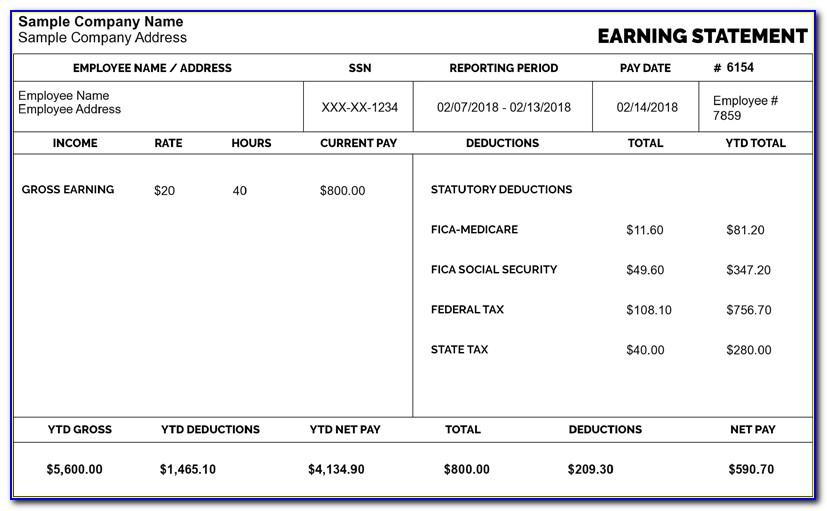 Create Your Own Pay Stub Template
