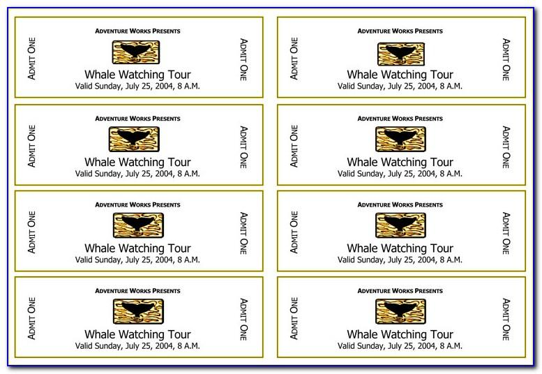 Create Your Own Tickets Template Free