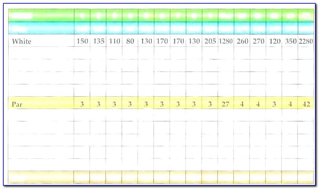 Custom Golf Scorecard Template