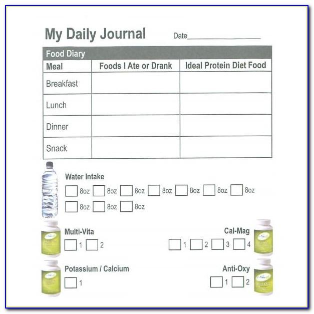 Daily Log Bullet Journal Template