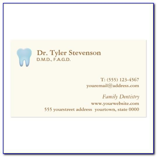 Dental Appointment Card Template Free