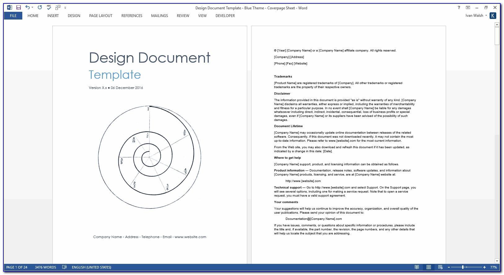 Design Document Template Software Development
