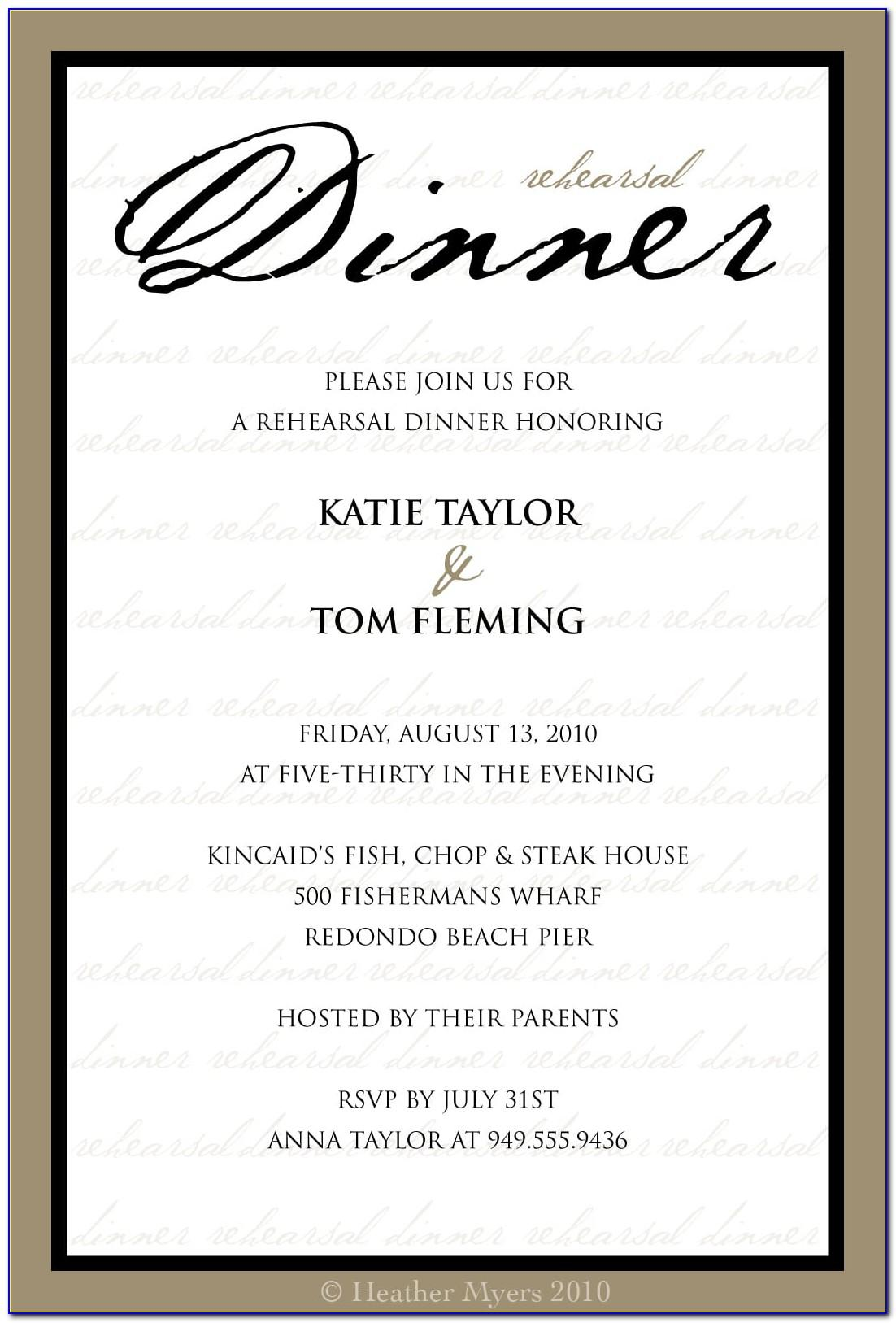 Dinner Invite Templates Free Download