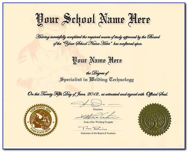 Diploma Seal Template