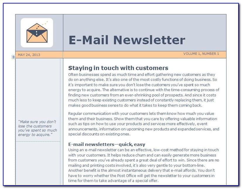 Download Free Newsletter Templates For Publisher