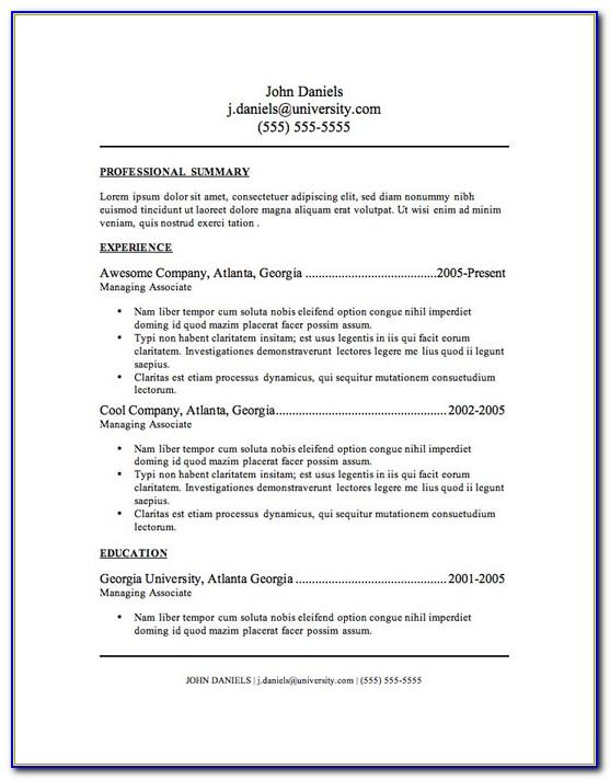 Downloadable Resume Template