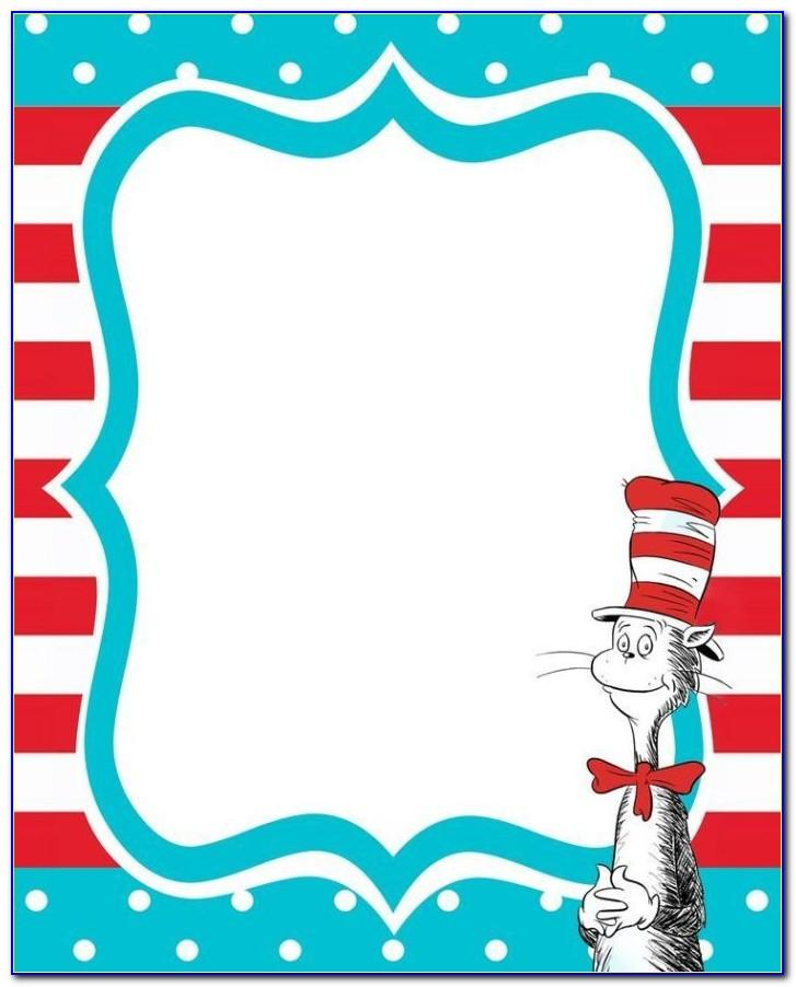 Dr Seuss Invitations Templates Free