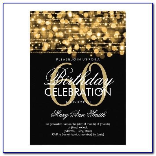 Editable 60th Birthday Invitation Template