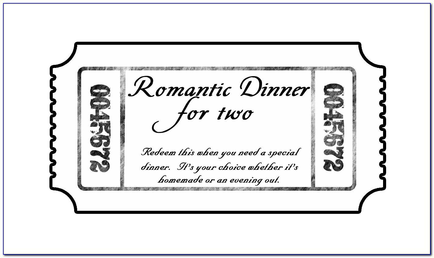 Editable Dinner Ticket Template Free