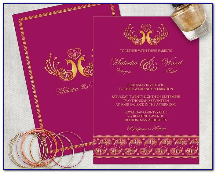Editable Hindu Wedding Invitation Video Templates Free Download