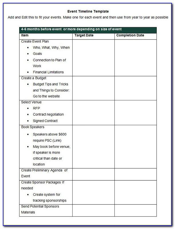 Event Planning Template Microsoft Excel