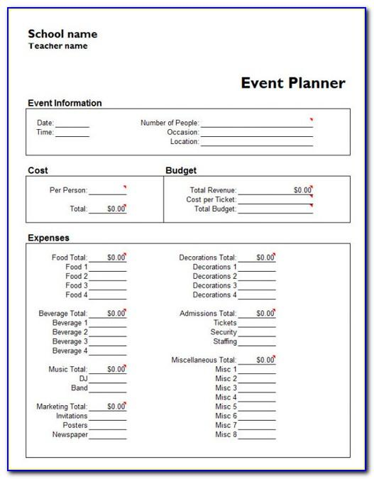Event Planning Template Microsoft Project
