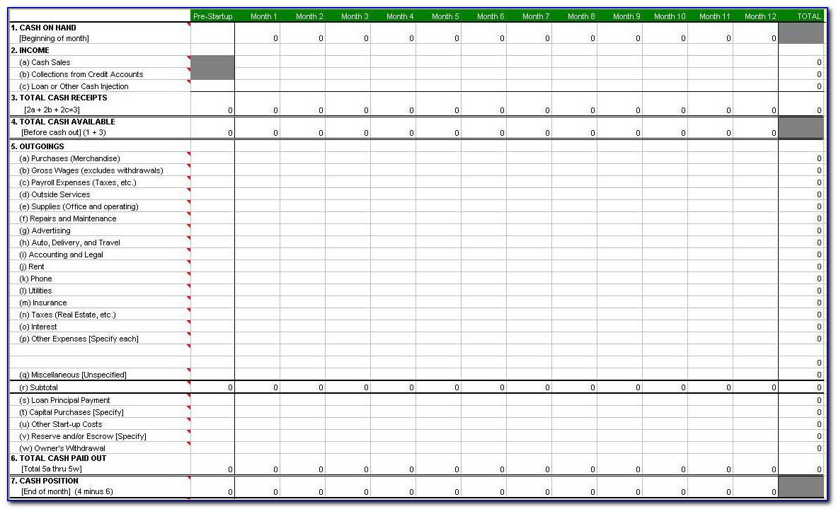 Excel Spreadsheet Templates For Home Budget