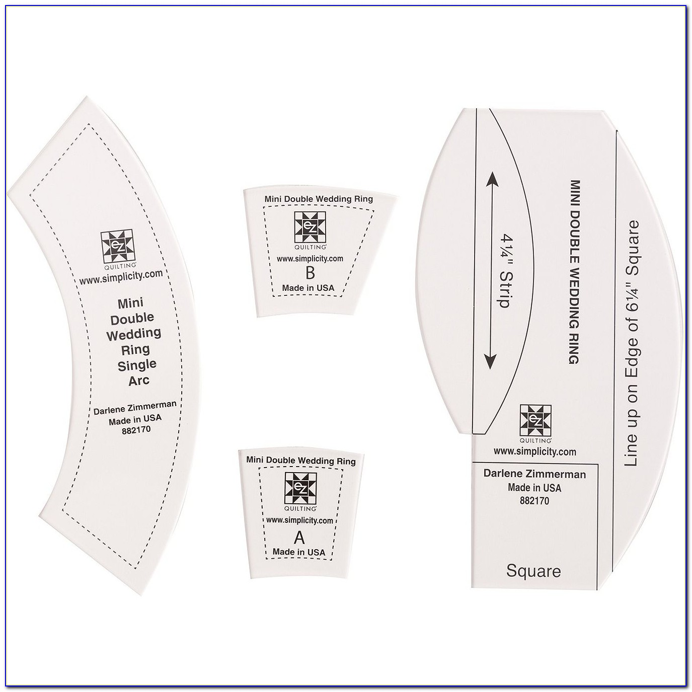 Ez Quilting Double Wedding Ring Templates