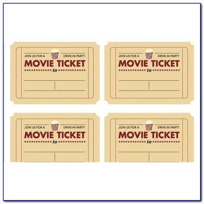 Fake Theatre Ticket Template