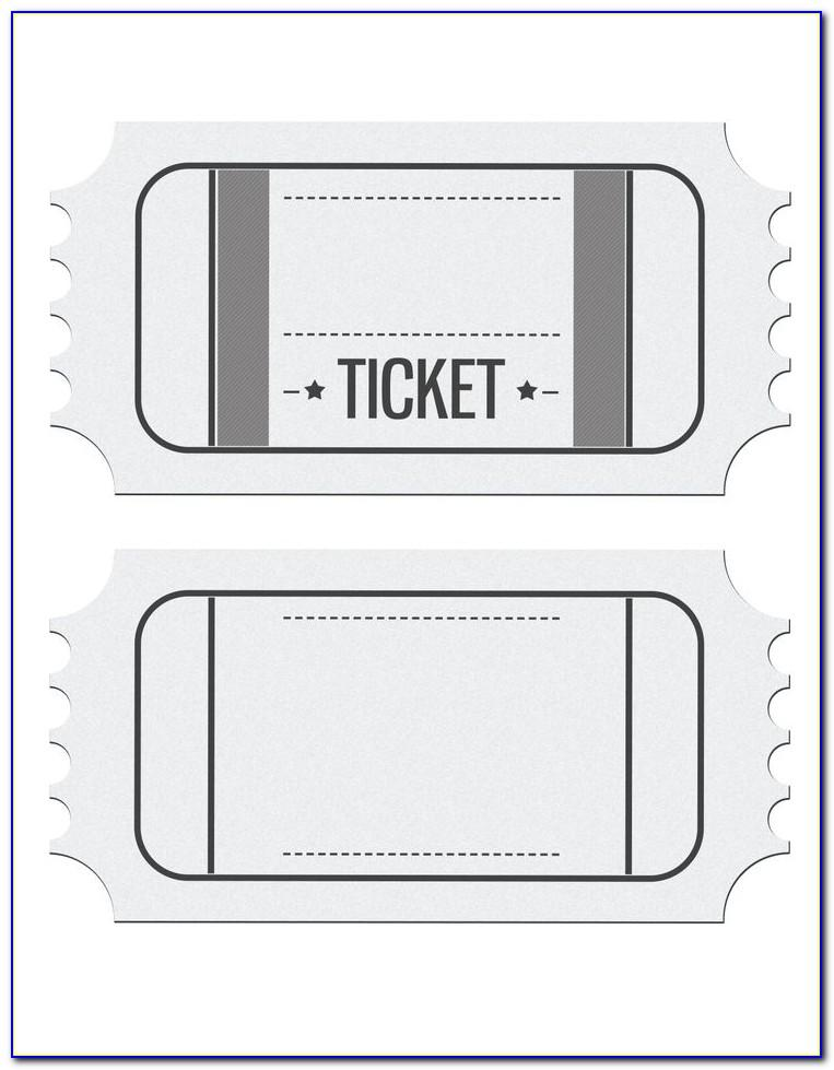 Fancy Ticket Template