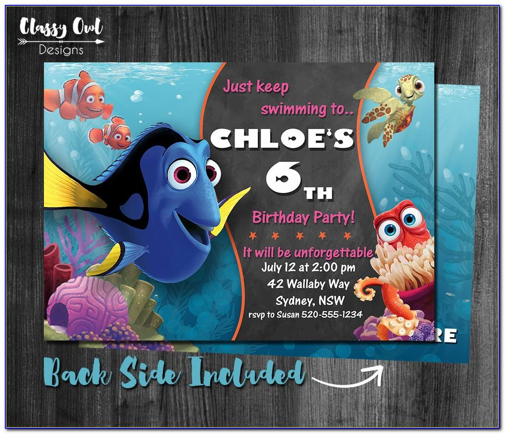 Finding Dory Invitation Template Free