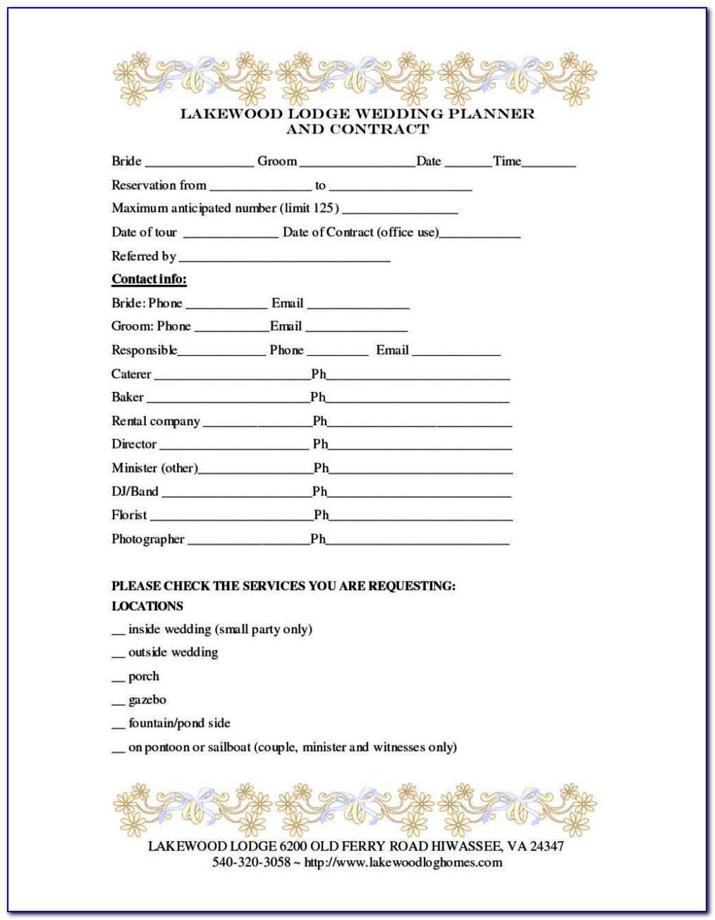 Floral Wedding Contract Template