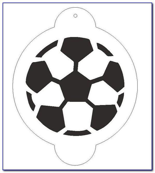 Fondant Soccer Ball Cake Template